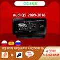 Автомобильная стереосистема для Audi Q5, 10,25 дюйма, Android 10, 2009-2016, Wi-Fi, Google 2 + 32 ГБ ОЗУ, AUX IPS, сенсорный экран, мультимедиа, GPS, Navi