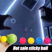 Teto balsl fluorescente pegajoso bola de parede bola de teto pegajoso alvo bola crianças brinquedo adulto descompressão brinquedo presente