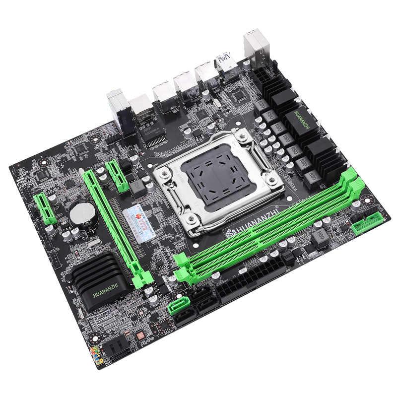Nieuwe collectie HUANAN ZHI X79 LGA2011 moederbord bundel korting moederbord met CPU Intel E5 2640 V2 RAM 8G DDR3 1600 REG ECC