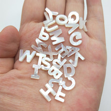 Jewelry Letter Pearl-Seashell Alphabet Natural The White of for DIY Leave Messge Messge