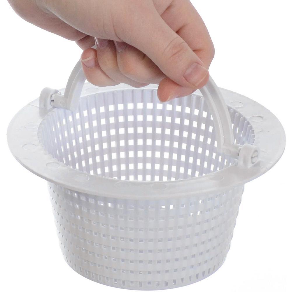 Plastic Handle Swimming Pool Pond Skimmer Anti-clog Lightweight Strainer Basket