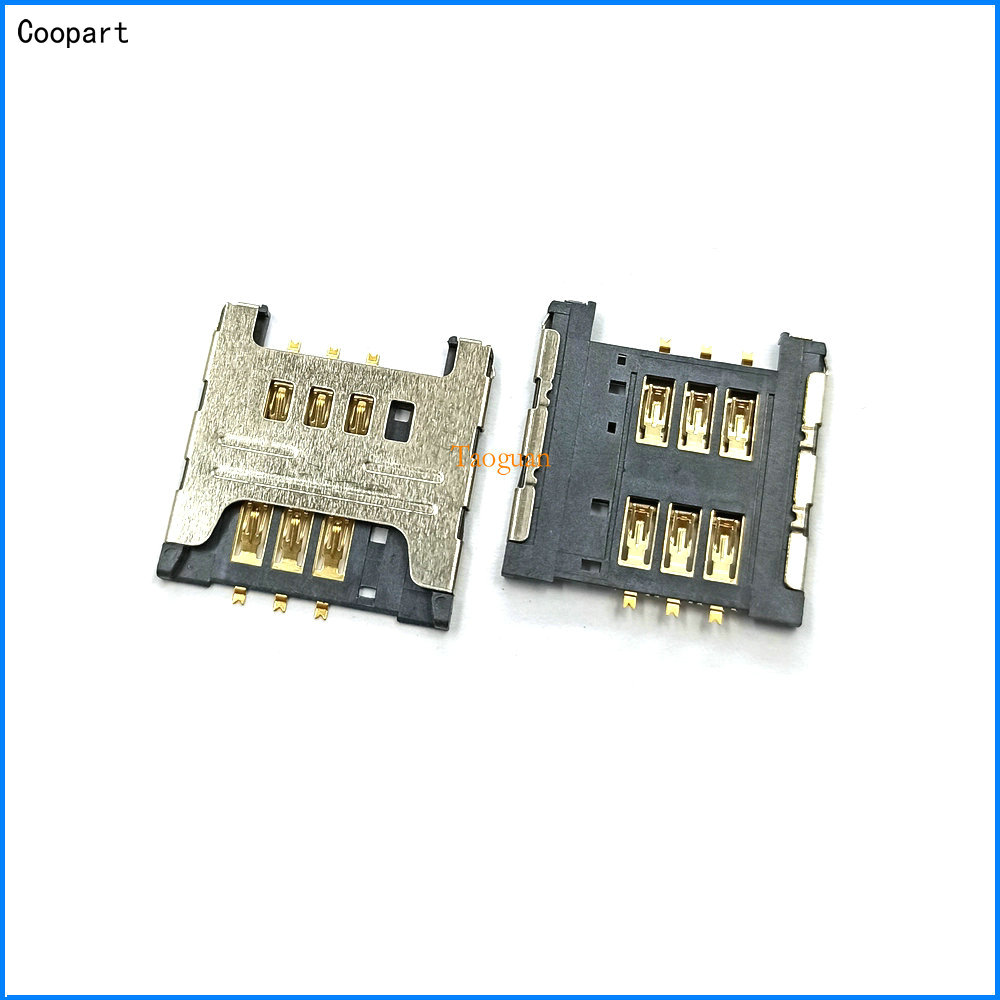 3pcs/lot Coopart New Sim Card Socket Slot Holder Tray Replacement For Samsung I9000 N7000 I9220 S5570 S5690 W689 S5360