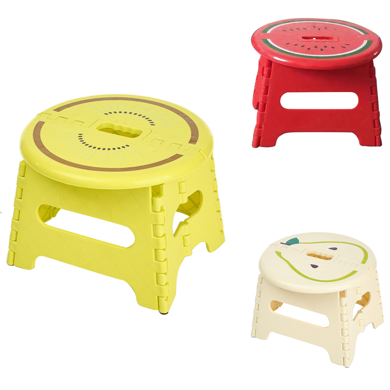 Folding Stool Plastic Portable Non-Slip Family Adult Children Small Chair Outdoor Portable Thick Maza Small Bench