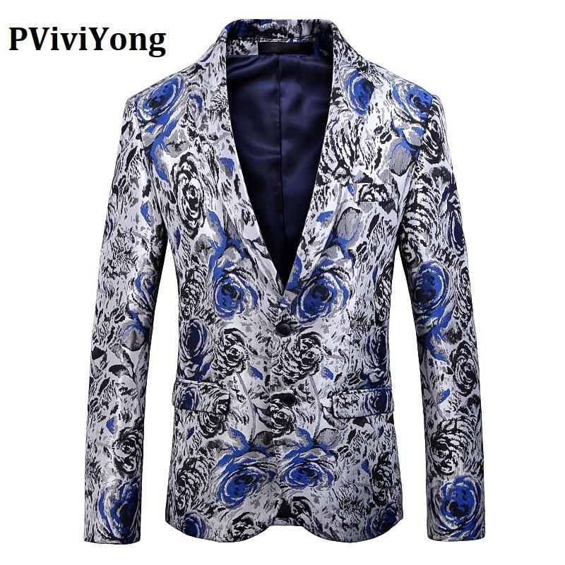 PViviYong Brand 2019 High Quality Suit Top For Men, Men Blazer British Style Suit Men Slim Fit Leisure Business Suit Jacket 1909