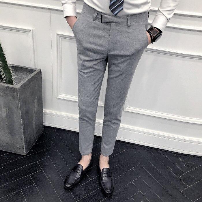 Autumn And Winter Men Casual MEN'S Trousers Korean-style Trend New Style Skinny Pants Men's Golden Fashion Slim Models MEN'S Tro