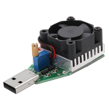 New DC 3.7~13V USB 15W Adjustable Constant Current Electronic Load Discharger 1pcDrop ship