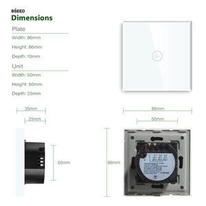 Image 4 - Bseed Wifi Lichtschakelaar 1 Gang Smart Switch Draadloze Wifi Schakelaar Wit Zwart Gouden Kleuren Ondersteuning Voor Tuya Google Assistent