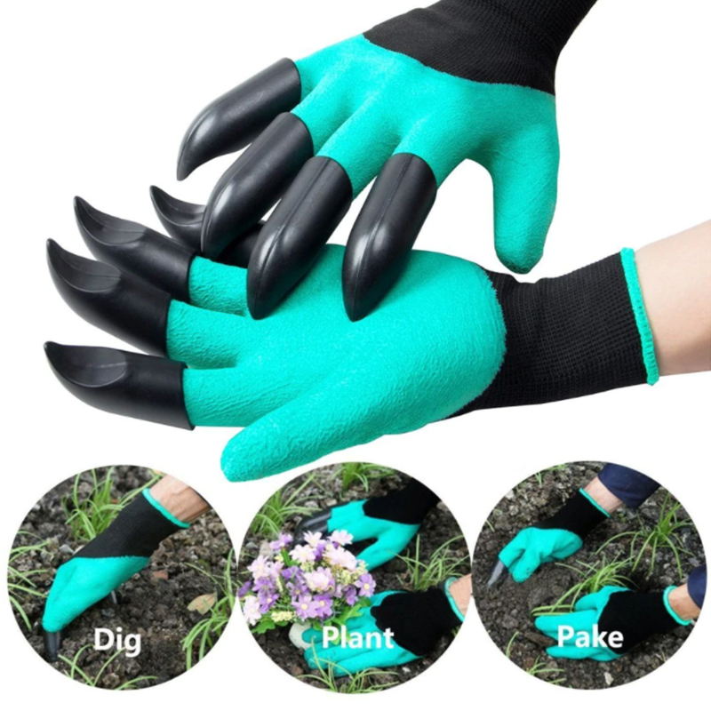 1 Pair Garden Gloves For Garden Digging Planting With 4 ABS Plastic Claws Easy To Dig And Plant Glove Garden Working Accessories