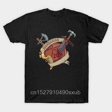 Качественная модная с коротким рукавом мужская футболка Dnd варварский D20 модная мужская футболка с короткими рукавами