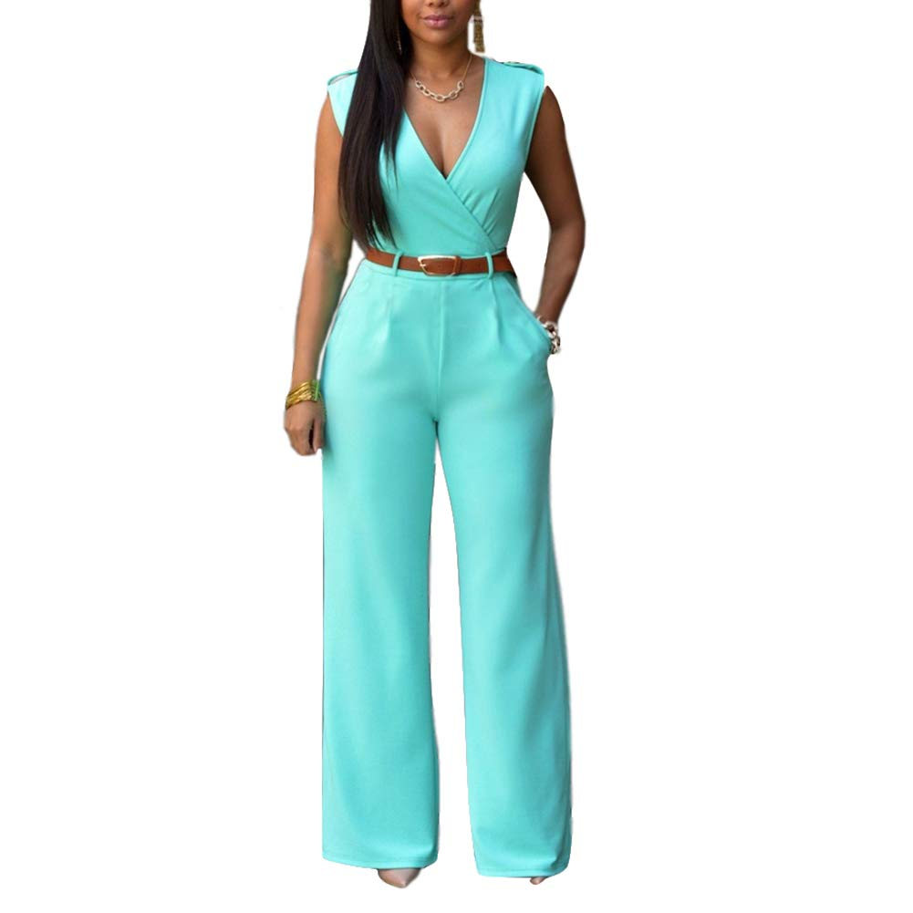 15 Pieces  Womens Wide  Pant - Elegant -Neck  With Pockets2019 Jumpsuits  Silk  Cashmere