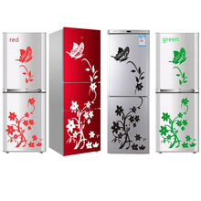 Wall Stickers High Quality Creative Refrigerator Sticker Butterfly Pattern  Home Decoration Kitchen Wallpaper Art Mural Colorful high quality colorful cartoon forest pattern removeable wall stickers