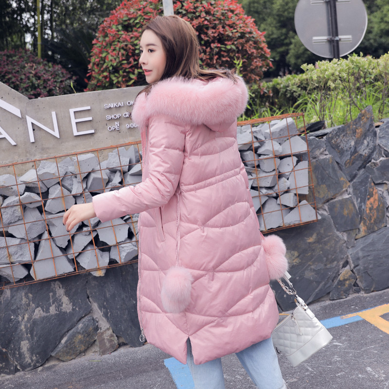 Women Winter Coats Female 90% White Duck Down Jackets Slim Long Down Parka Real Fox Fur Hooded Warm Clothes 2020 LWL1351