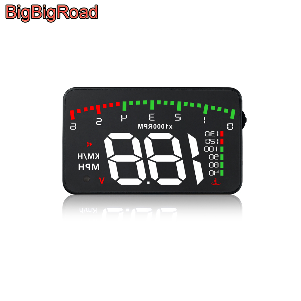 BigBigRoad Car Hud Display Overspeed Alarm Windshield Projector For Toyota Auris Avensis Aygo FCHV Harrier Hilux Mirai NOAH Wish|Head-up Display| |  - title=