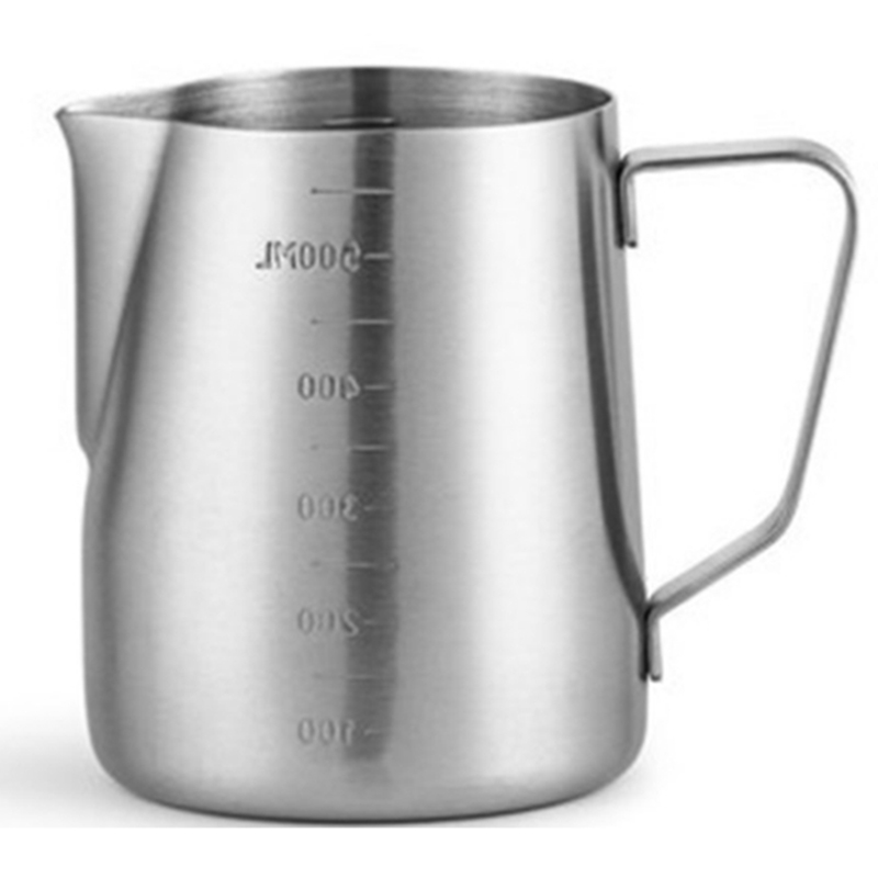 Barista Pitcher Latte Art Milk Pitcher Jugs Stainless Steel Double Scale High-Class and Quality Coffee Pitchers