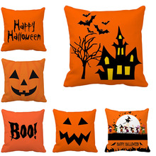 2019 Happy Halloween Throw Pillowcase Scary Pumpkin Witch Pillow Cover Cushion Case Decorations for Home Merry Xmas Party Supply