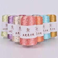 100g Sequin Stitch Yarn Line Yarns Hand Crochet Threads Parnter Yarn Knit Sweater Clothes Thread Yarns 55 colors