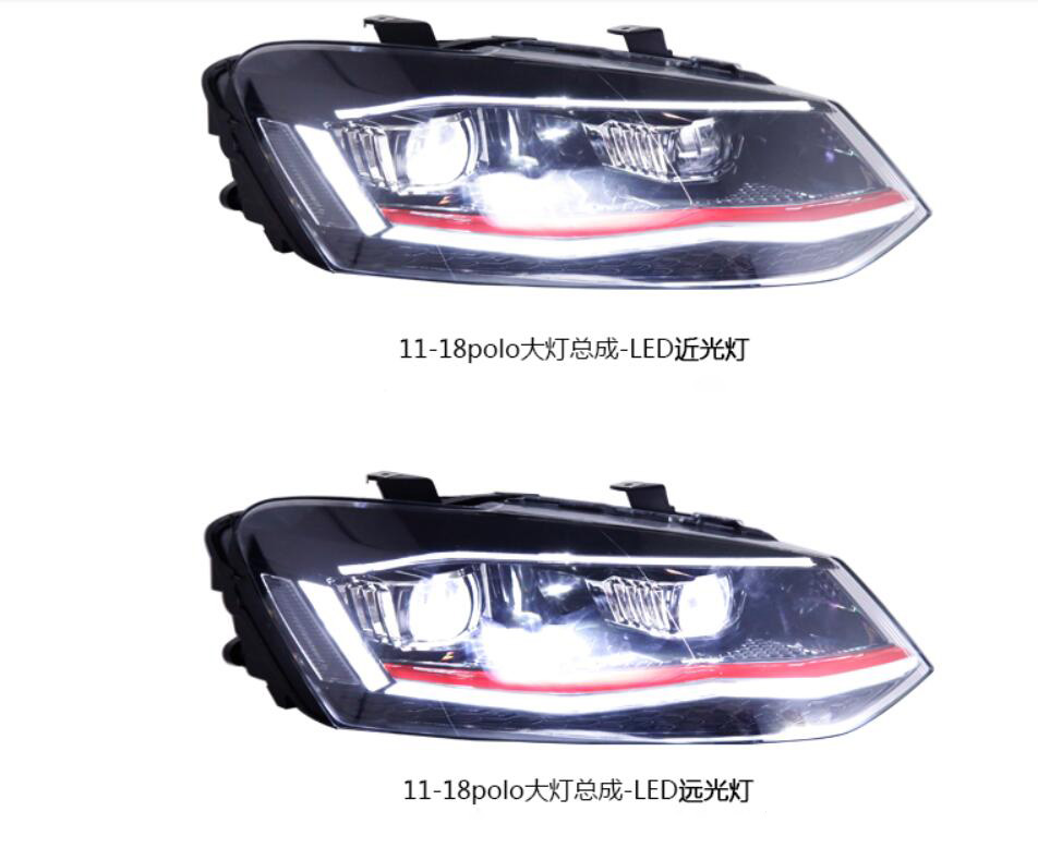 Car Bumper Headlight For Volkswagen-polo Daytime Light 2019 2020y DRL Car Accessories LED Headlamp For VWPOLO Fog Light