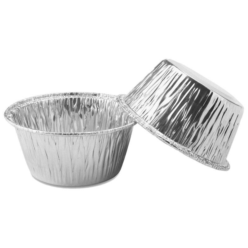 150 Pcs Aluminum Foil Cupcake Cups Ramekin Muffin Baking Cups, Disposable Muffin Liners, Ramekin Holders Cups, Aluminum Cupcake
