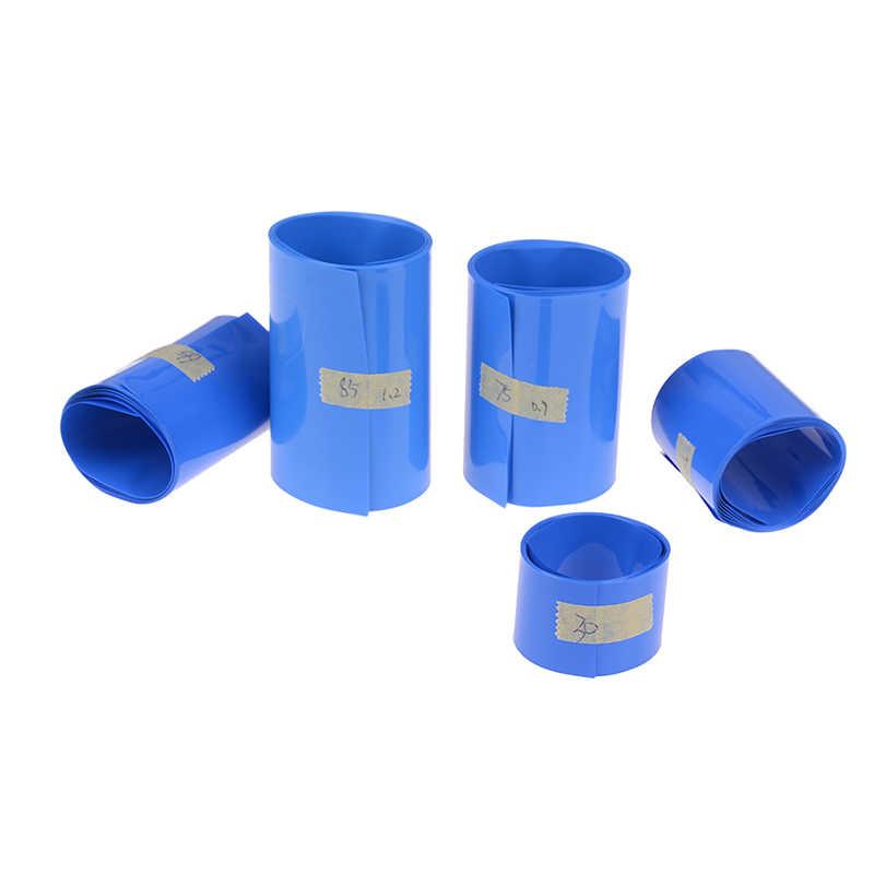 バッテリー熱収縮チューブチューブリチウムイオンラップカバースキンpvc収縮フィルムテープスリーブアクセサリー 30 ミリメートル-85 ミリメートル 18650 リチウム
