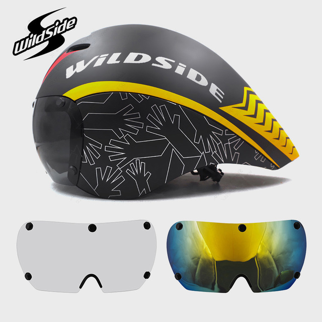 Race tt cycling helmet lens goggles Triathlon tri aero helmet road bike timetrial bicycle helmet Casco Ciclismo Accessories 2019