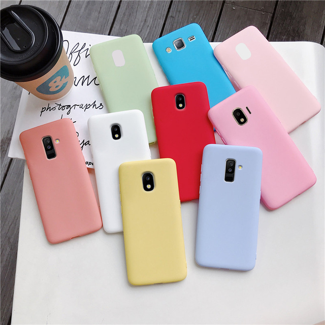 candy color silicone phone case for samsung galaxy j7 pro j5 j3 2017 2016 2015 a6 a8 j8 j6 j4 plus 2018 matte soft tpu cover 1