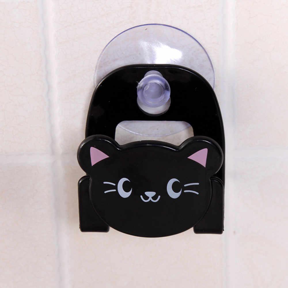 カートン皿布スポンジサクションカップかわいい動物吸引収納棚コンテナ家の装飾ダイニングルーム