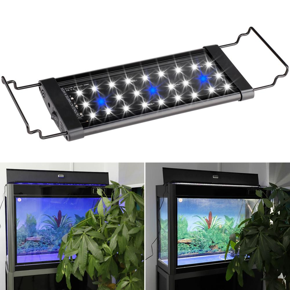 30CM 45CM 60CM 90CM <font><b>120CM</b></font> <font><b>LED</b></font> <font><b>Aquarium</b></font> <font><b>Light</b></font> Full Spectrum for Freshwater Fish Tank Plant Marine Waterproof Connector New N22 image