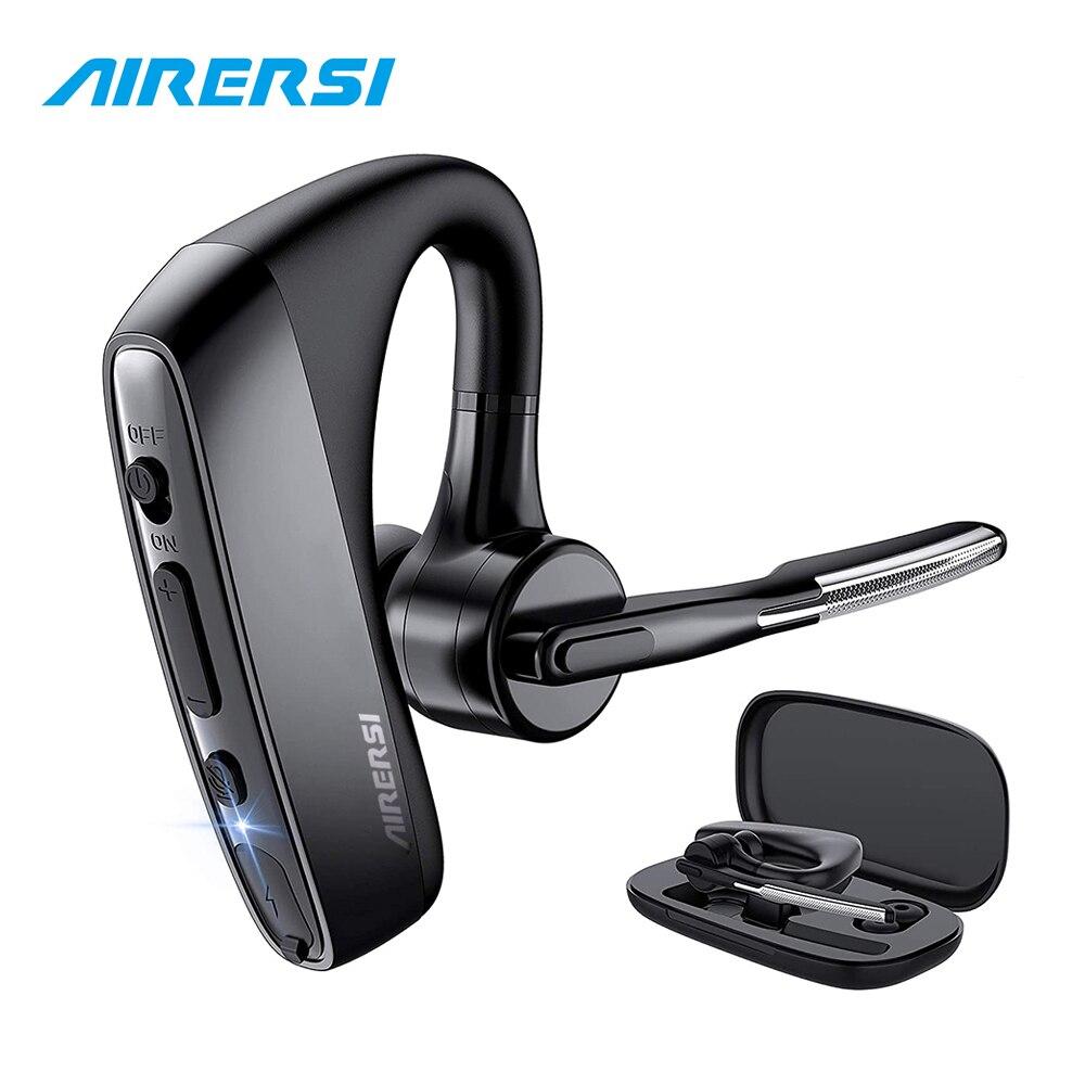 Новейшая модель; K18 Bluetooth наушники Handsfree с CVC8 Двухъядерный Intel HD микрофон Шум шумоподавления Беспроводной Bluetooth гарнитура для всех смартфонов