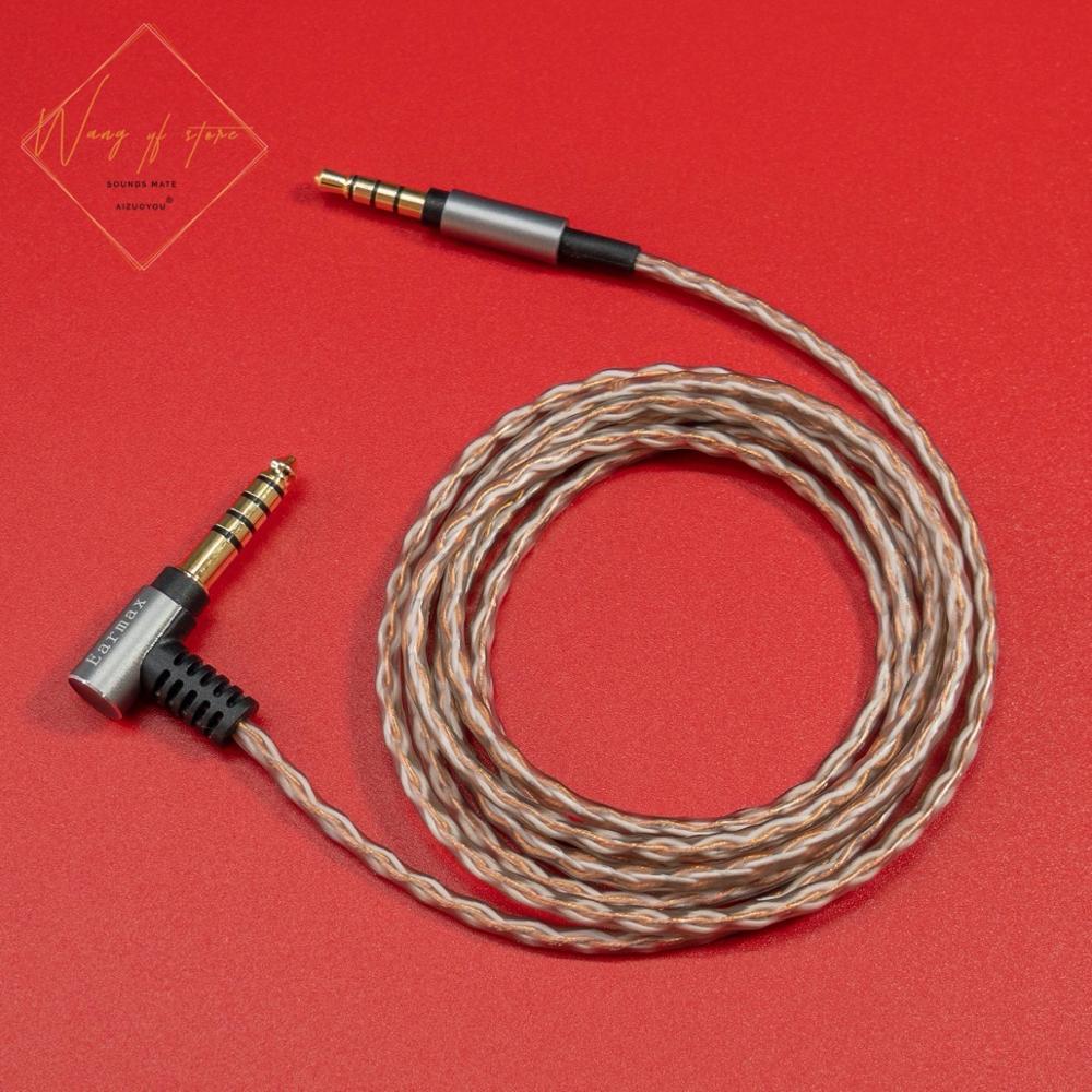 6N Hifi сбалансированный аудиокабель для Sony MDR 1ABT 1ADAC 1ABP 100ABN наушники 6N OCC 99.99997% 4,4 2,5 3,5 мм вилки позолоченные