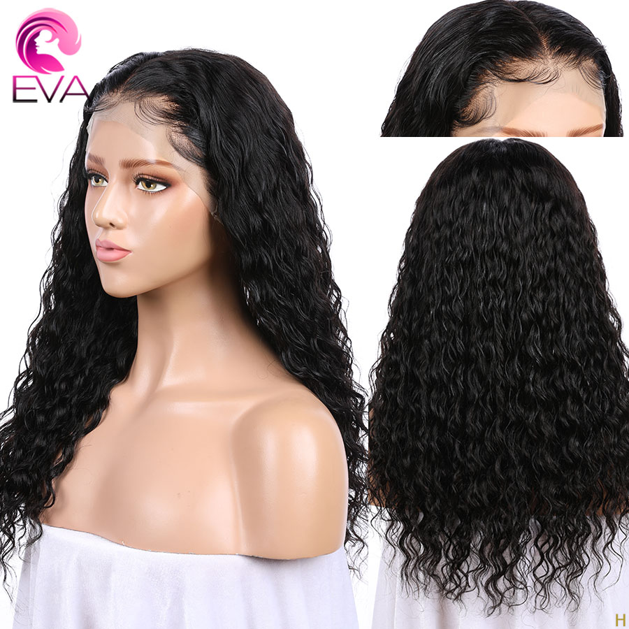 Full Lace Human Hair Wigs Brazilian 130% Or 150% Density Curly Remy Hair Wig For Black Women Pre Plucked With Baby Hair Eva Hair
