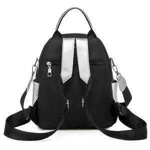Image 4 - Women Mini Silver Backpack School Bags PU Leather Bag Female Silver Backpacks Teenage Girls Shoulder Bags Rivets Mochila XA462H