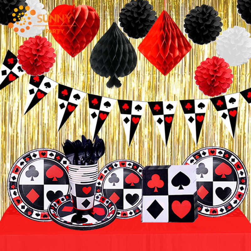 50 Pack Queen of Spades Playing Card Shaped Disposable Paper Party Napkins 5x7 for Casino Night Poker Game Party Supplies Tableware Decoration Casino Party Napkins