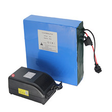 48V 30AH Lithium Battery Pack with Charger 50A BMS Electric Bicycle Resistant to High Temperature Environment