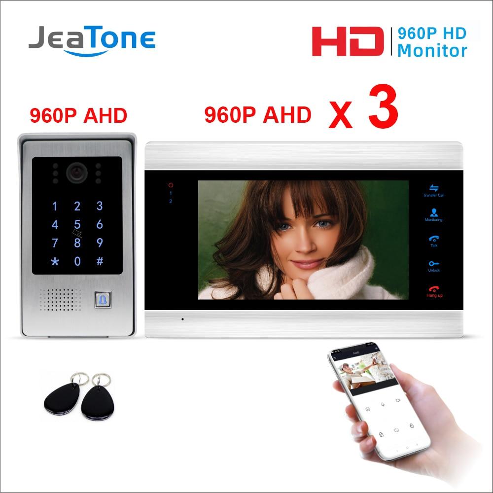Tuya Smart Free App WiFi IP Video Door Phone Intercom System Multiple Monitors Code Keypad/RFID Card/APP Unlock Access Control