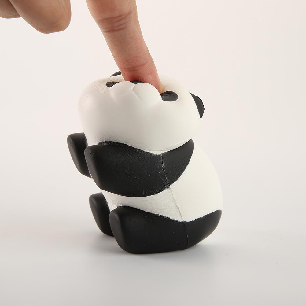 Kids Cute Simulation Panda Animal Slow Rising Simulation Squeeze Decompression Kawaiii Squish Toy Stress Reliever Toddle Adults