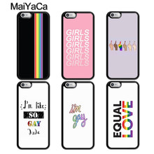 MaiYaCa Rainbow Gay Lesbian LGBT Case For iPhone 5 6 6s 7 8 plus 11 Pro X XR XS Max Samsung galaxy S7edge S8 S9 S10(China)