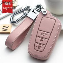 Кожаный чехол для автомобильных ключей toyota prius camry corolla