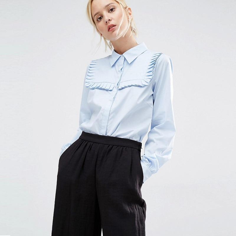 Fashion Nifty Lace Trim Coat Fresh Joker Long Sleeve Square Collar Shirt 2019 Turn down Collar Blouse Shirts Women in Blouses amp Shirts from Women 39 s Clothing