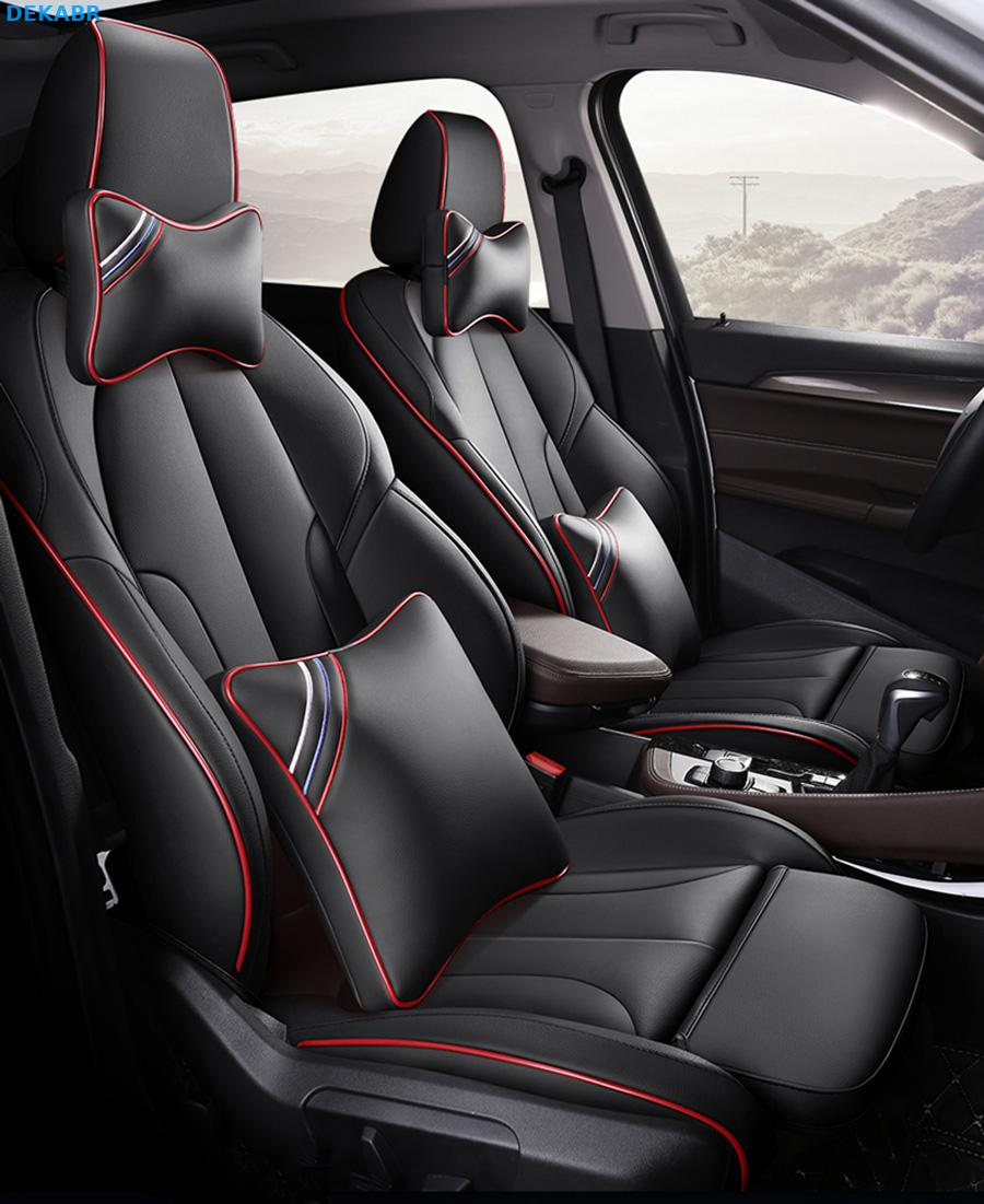 Leather Custom auto car seat covers For BMW F10 F11 F15 F16 F20 F25 F30 F34 E60 E70 E90 1 3 5 7 GT X1 X3 X4 X5 X6 Z4 Car styling image