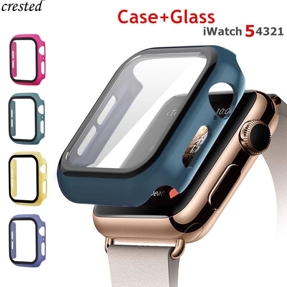 Cristal templado + funda para Apple Watch 5 4 44mm 40mm iWatch 3 2 1 42mm 38mm Protector de pantalla + cubierta parachoques apple watch Accesorios Teléfono Móvil 4G LTE apple-iphone SE, iPhone Original libre, Dual Core, 2GB RAM, 16 GB/64GB ROM, pantalla de 12,0mp, IOS, reconocimiento de huella dactilar, Touch ID