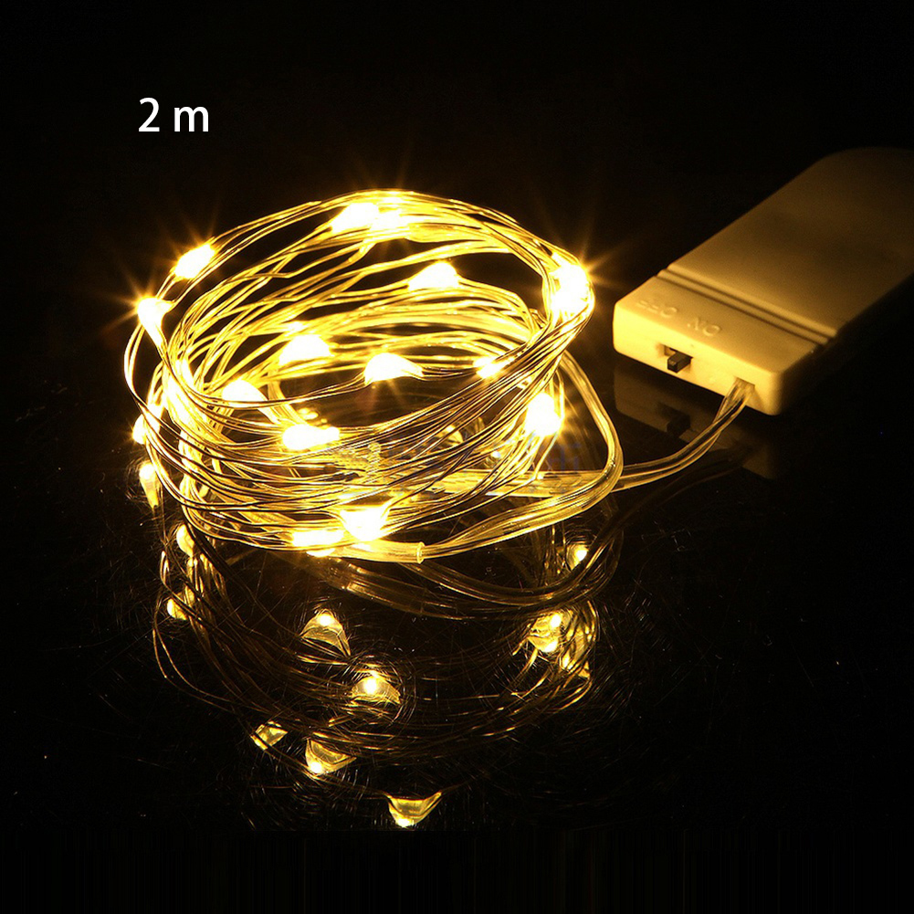 Night Garland Party Chain Christmas Romantic Battery Powered Fairy Light Holiday Decor Copper Wire Wedding Waterproof Mini Led