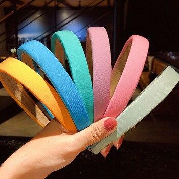 New Women Girls Cute Candy Colors Sponge Simple Hairbands Sweet Hair Holder Headband Hoop Fashion Accessories - discount item  22% OFF Headwear
