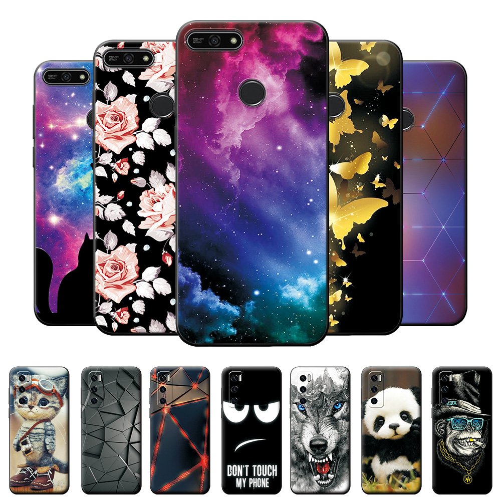 Case on Honor 7A Pro Case For Honor 7C RU Shockproof Protective Case For Huawei Y6 Prime 2018 5.7 inch Soft TPU Silicone Cover