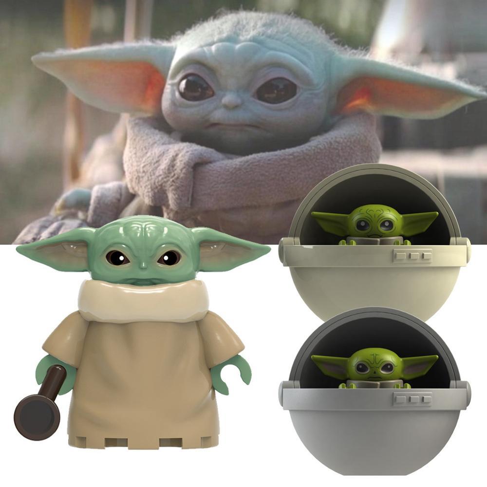 Single Sell Star War Mandalorian  Yoda  Baby   Starwars Darth Vader Maul Sith Malgus Han  Ewok     Building Blocks Toys For Kids