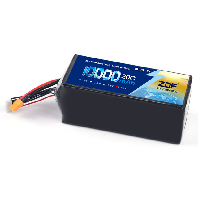 ZDF 6S Lipo Batteria 10000mAh 22.2V 20C per RC Drone