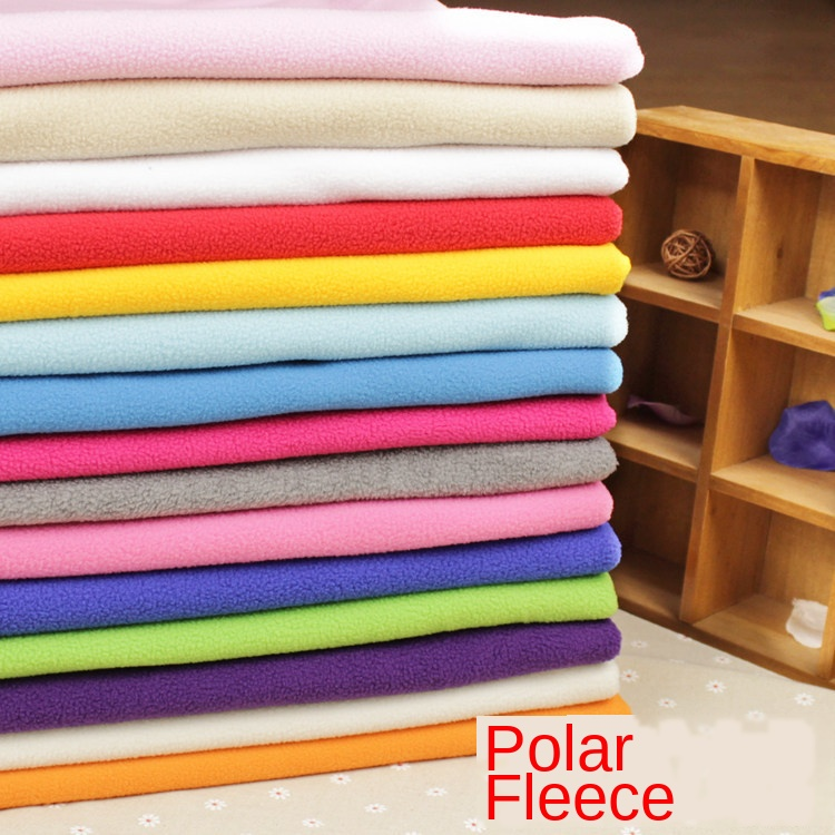 100x160cm Fleece Fabric Weft-Knitted Polar Fleece Fabrics Thickened Cotton Quilting Fabrics  Sweatshirt Fleece Fabric Wholesale