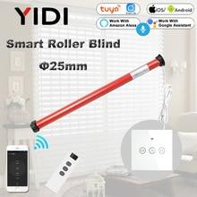 25mm Tubular Motor 110V 220V Automatic Electric Roller Blinds Shutter Motor DIY Smart Home Wifi Curtain Switch Tuya Gooogle Home