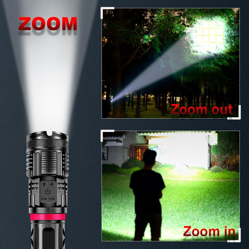 lanterna recarregavel por usb a prova dagua xhp70 lampada xhp50 02