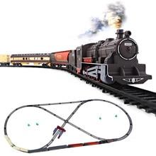 Электрический игрушечный поезд рельсы детская железная дорога железнодорожные пути набор модели железной дороги набор поездов для детей Детские радиоуправляемые поезда игрушки модель