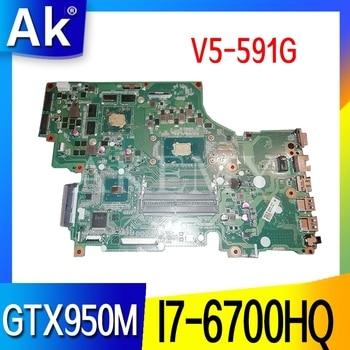 DA0ZRYMB8G0 Laptop motherboard for Acer Aspire V5-591G original mainboard I7-6700HQ GTX950M